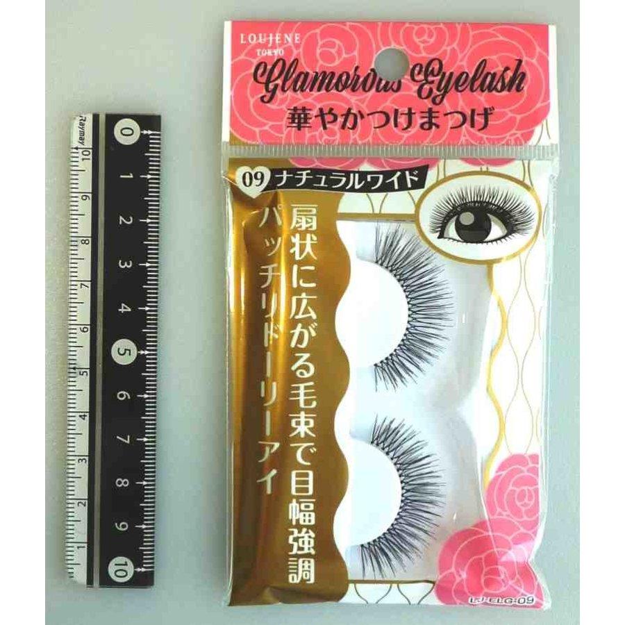 Glamorous fake eye lashes 09 natural wide-1