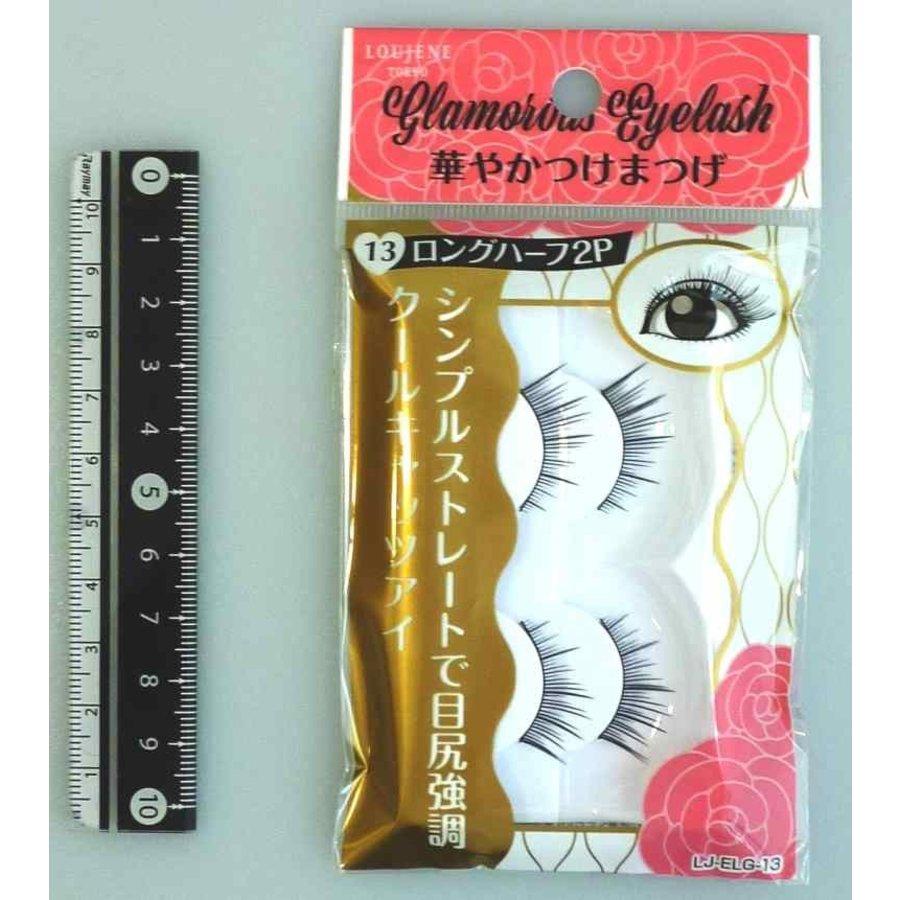 Glamorous fake eye lashes 13 long half 2p-1