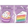 Die-cut memo pad colorful cake