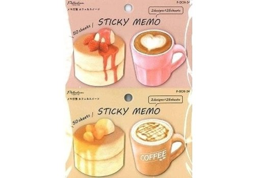 Memo label cafe & sweets 50s