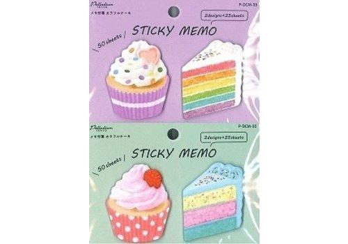 Memo label colorful cake 50s