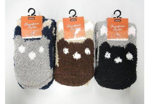 Fluffy socks bear