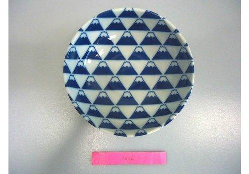 Kommetje blauw Fuji berg motief, 14,5 cm