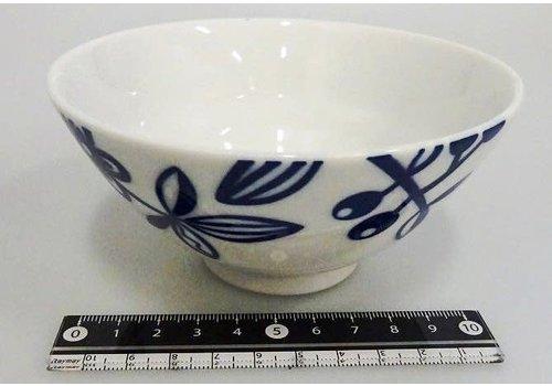 Kommetje blauw plantenpatroon, 12 cm