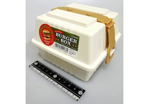 Plastic burger box, ivory