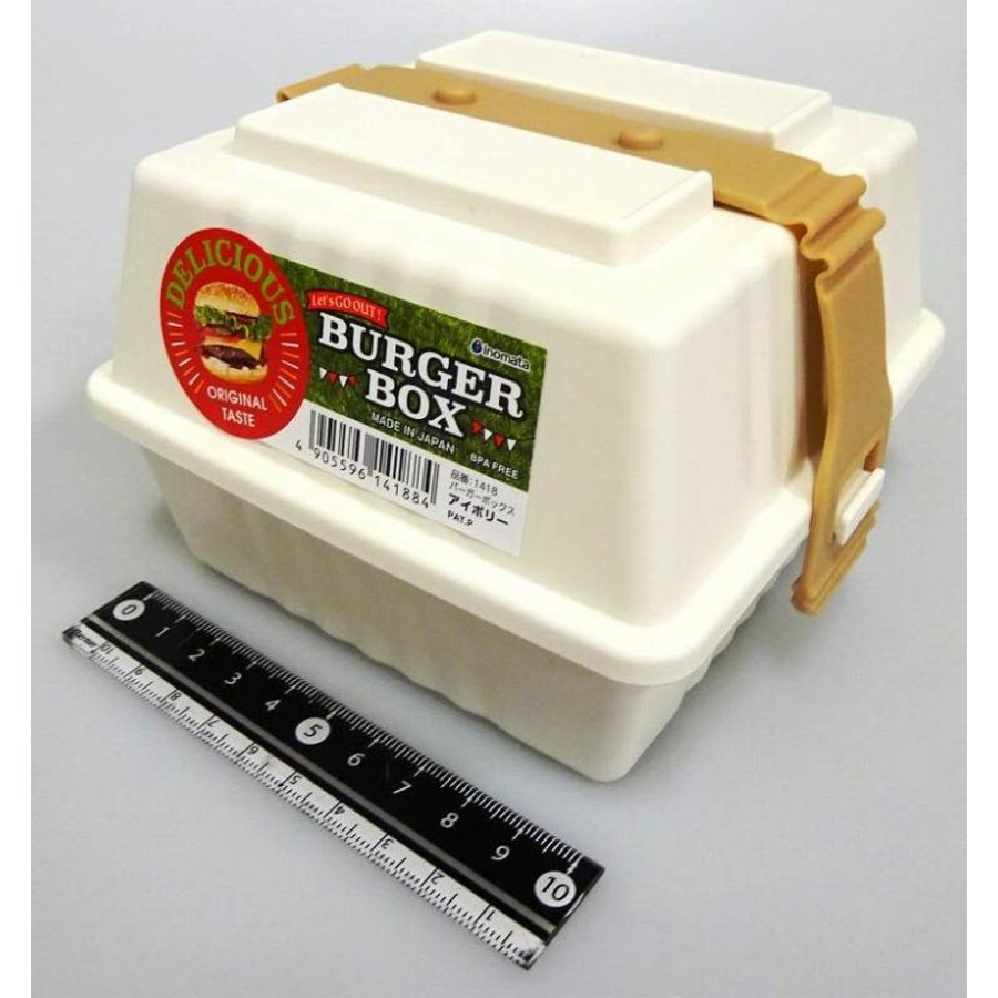Plastic burger box, ivory-1