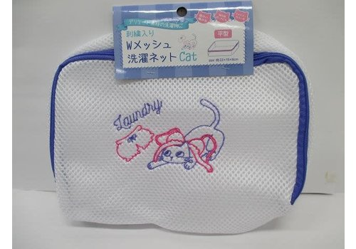 Embroidery W mesh laundry net CAT flat