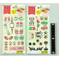 Big decoration sticker vintage & retro motif