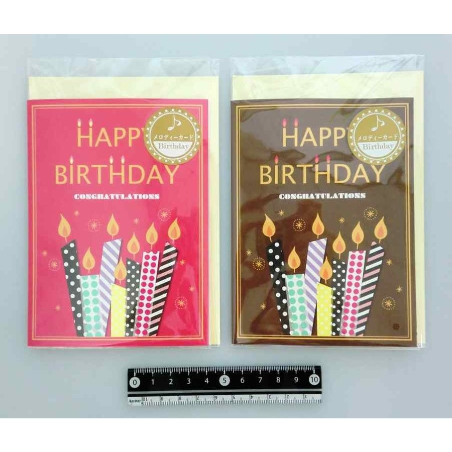 Melody card birthday candle-1