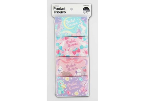 Mini mini pocket tissue dreamy cute 8p