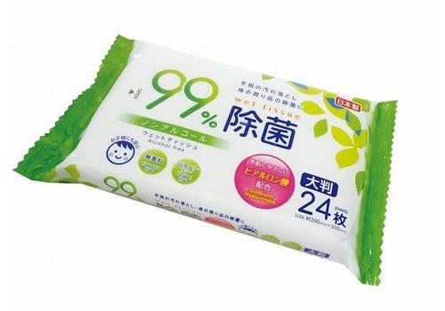 Non alcohol bacteria elimination wet wipes L 24S