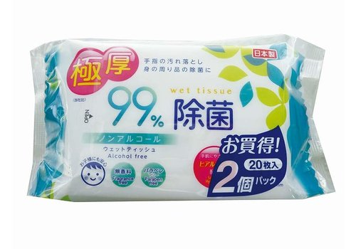 Extra thick non-alcoholic bacteria removal wet wipes?20S 2P