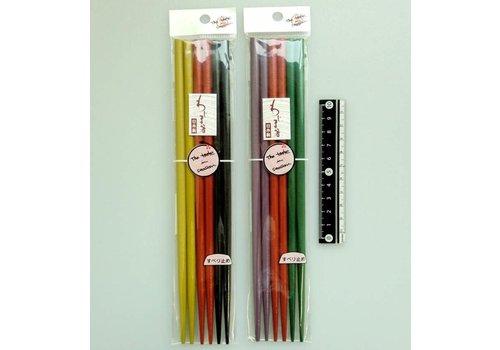 Color Wajima style decoration coated chopsticks 3prs
