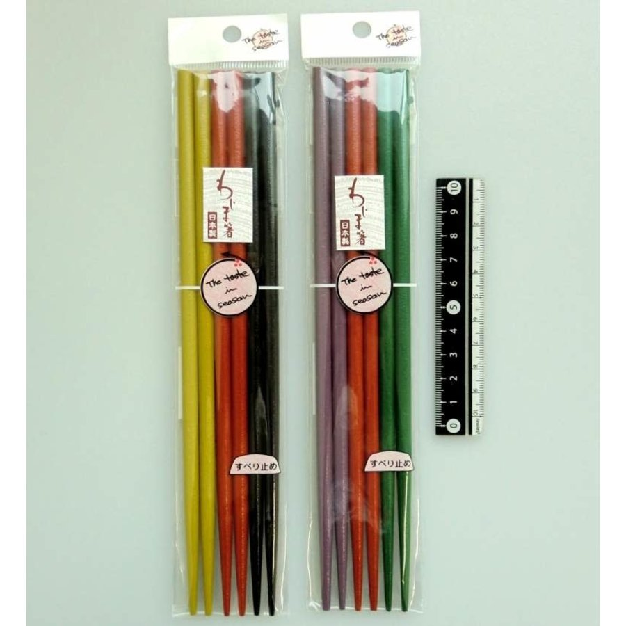 Color Wajima style decoration coated chopsticks 3prs-1