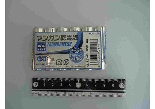 Mangan battery AA 6p pack