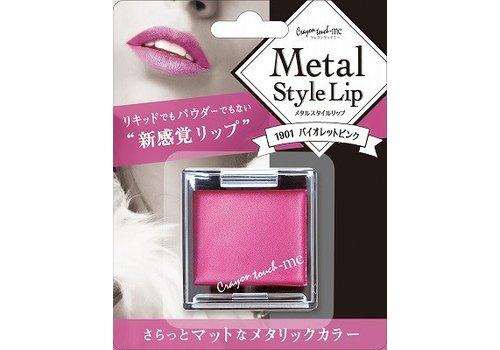 Metal style lip, violet pink