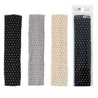 Dot hair band with bamboo charcoal S