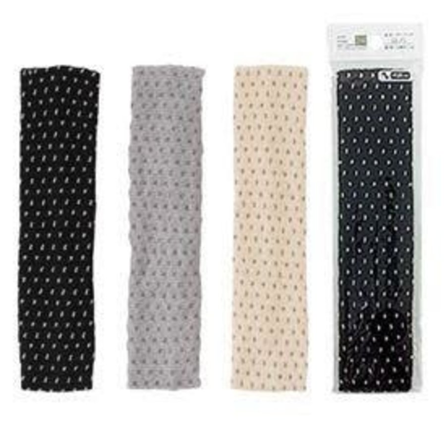 Dot hair band with bamboo charcoal S-1