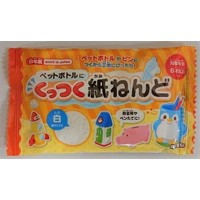 A paper clay 55G stickable to plastic bottle