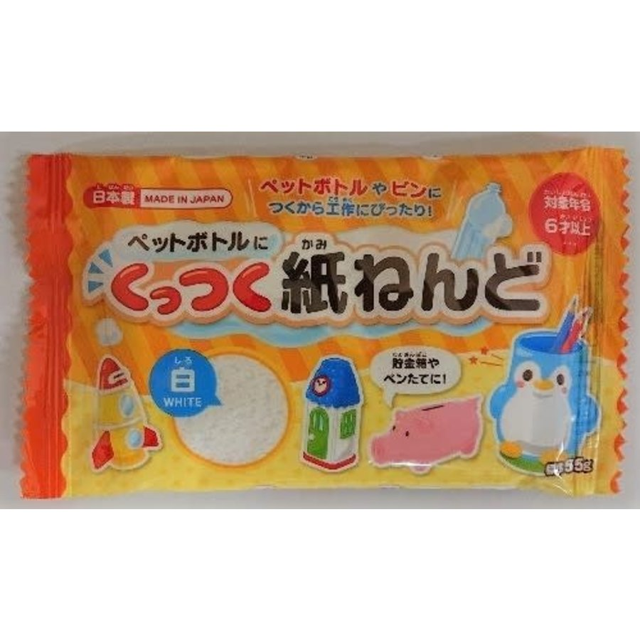 A paper clay 55G stickable to plastic bottle-1
