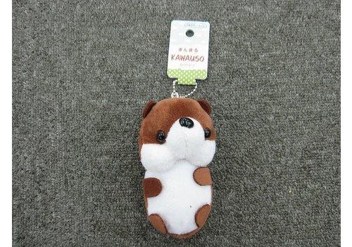 Plush charm keychain, otter