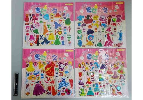 Dress-up stickers girl