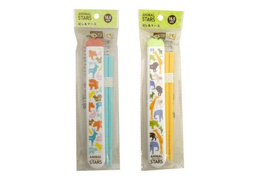 Animal stars chopsticks & case 16.5cm