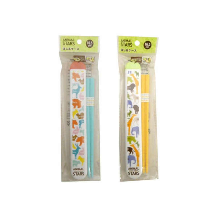 ?Animal stars chopsticks & case 16.5cm-1