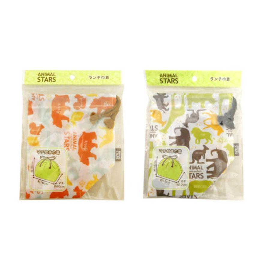 Animal stars lunch drawstring bag-1