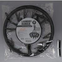 Laundry hanger round gray 20p : PB