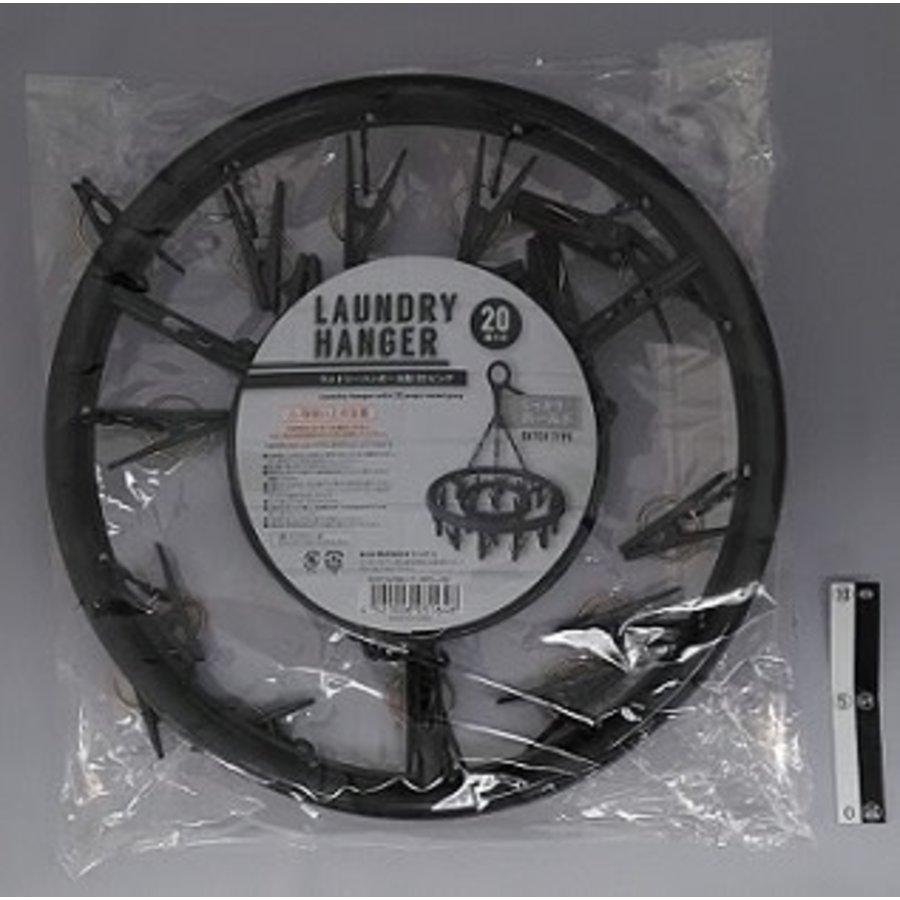 Laundry hanger round gray 20p : PB-1
