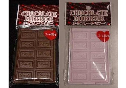 Foldable mirror with comb, chocolate