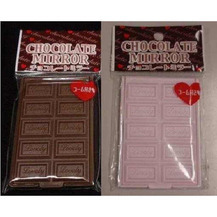 Chocolate mirror with comb : PB-1