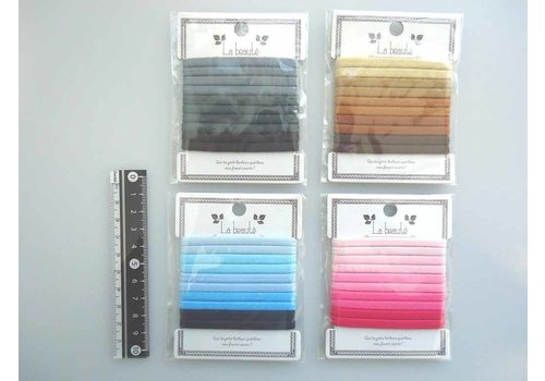 Gradation hair elastics wide 10p : PB