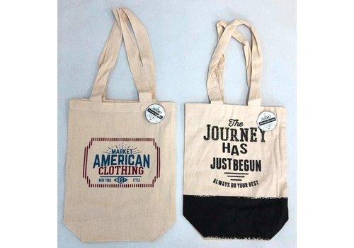 Cotton tote bag journey vertical