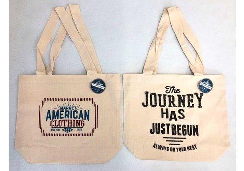 Cotton tote bag journey horizontal