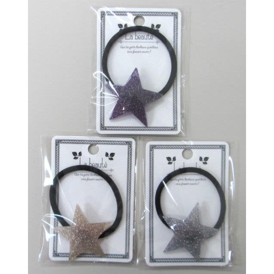 Acrylic glitter star pony-1