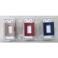 Matte color square frame vance