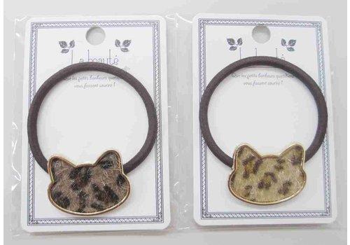 Leopard pattern eco fur cat pony