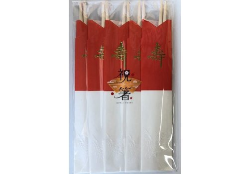 Celebration chopsticks red and white 5P