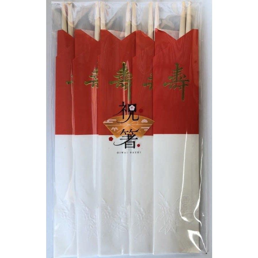 Celebration chopsticks red and white 5P-1