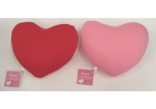 Bead cushion heart PK / RD