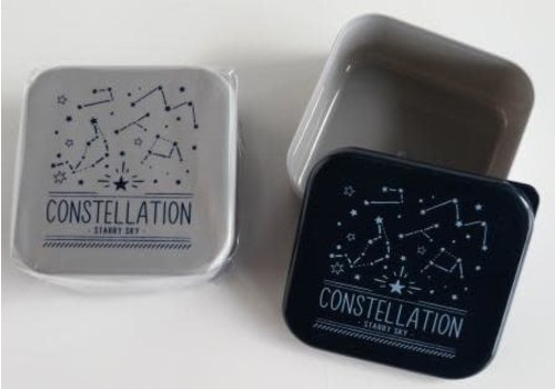 Print lunch box square constellation pattern