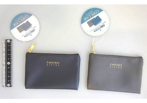 Synthetic leather coin case chic color