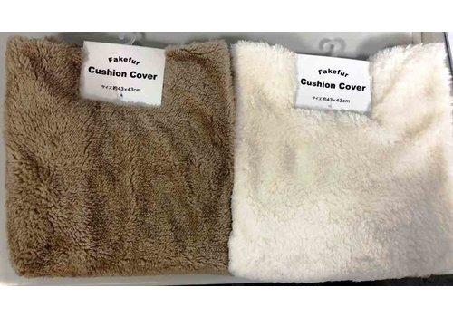 Fake fur cushion cover A