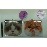 Cat face card case