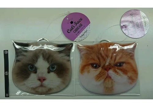Cat face card case