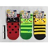 Kids crew socks with cuff insect