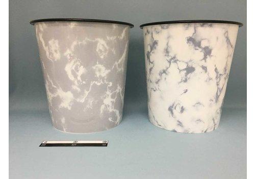 Plastic dust bin, marble