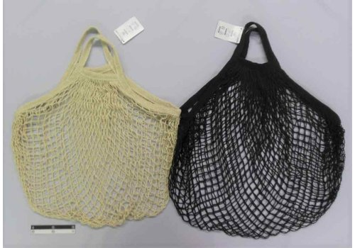 Net bag, beige/black